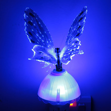Creative RGB Color Changing Butterfly Led Decoration Night Light for Bedroom Luminaria Led Sensor Nightlight Blue/Purple/Pink(China (Mainland))
