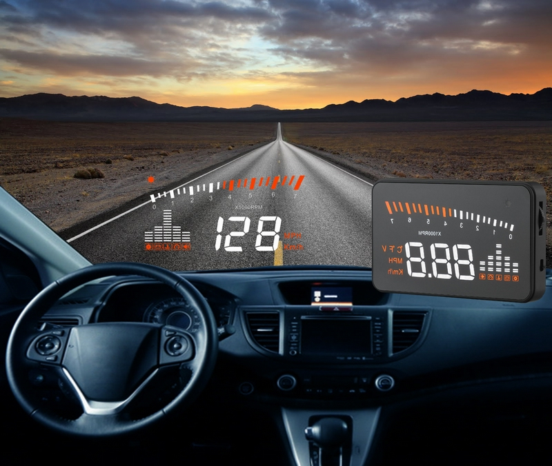 "3""Cheap HUD Head Up Display car Hud Display Car Styling Speeding Warning System Hud Windshield Projector OBD2 Interface(China (Mainland))"