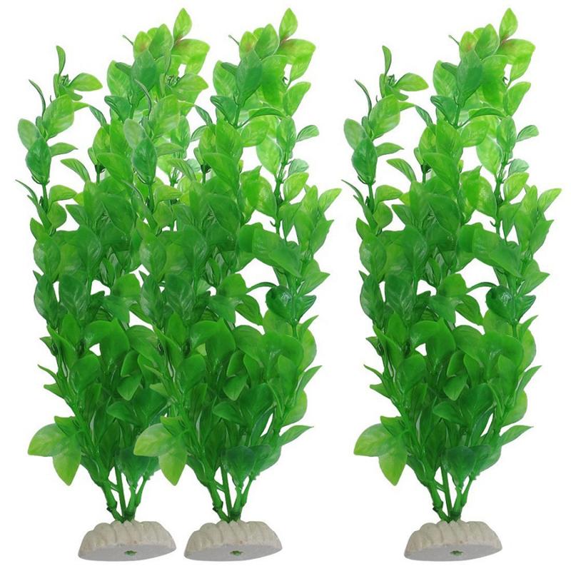 10x Artificial Plants Aquarium fish tank ornament decoration Plastic Green Plant Aquatic Pet Supplies Free Shipping Price: US $1(China (Mainland))