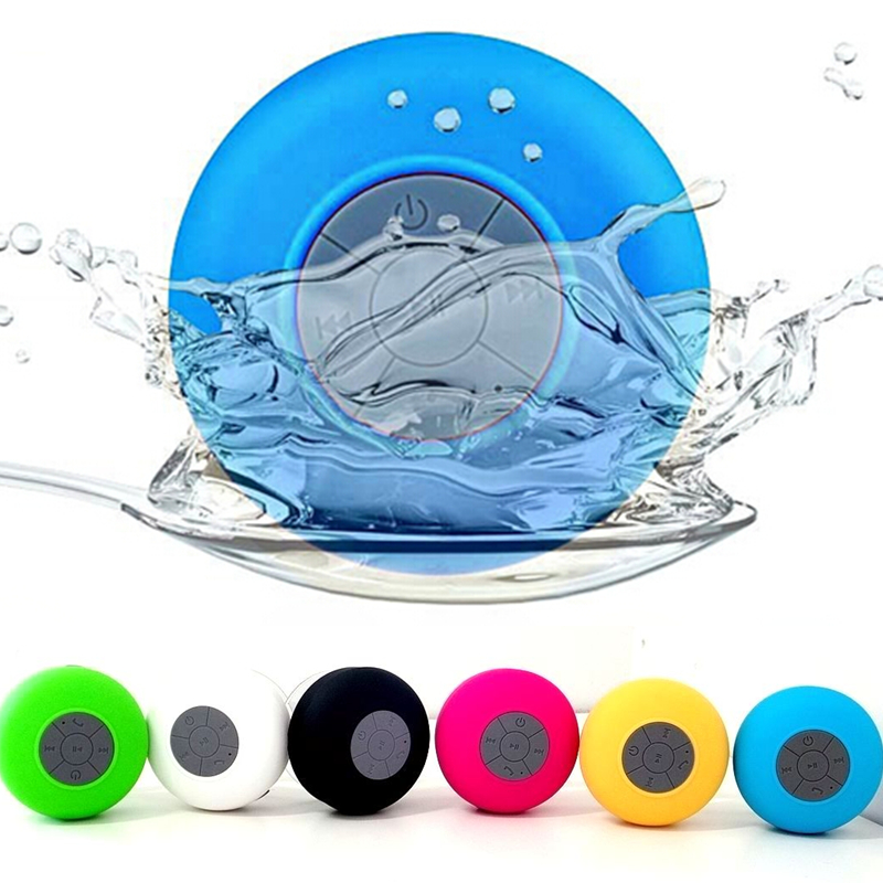 Portable Waterproof Wireless Bluetooth 3.0 Speaker Shower Car Handsfree Receive Call Music Suction Phone Mic NO plastic box(China (Mainland))