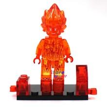 Bloques de construcción modelo 1 Uds superhéroes de acción fantásticos 4 cuatro humanos antorcha fuego diy juguetes para niños regalo(China)
