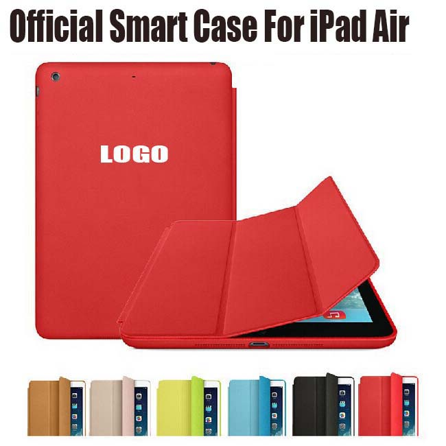 Brand New Official Design Fashion PU Leather Smart Case For Apple iPad Air iPad5 Ultra thin Filp Cover Case +Screen Film NO I515