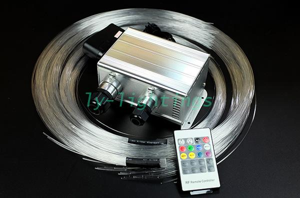 home decoration fiber optic light color change twinkle +white shooting stars optical fiber ceiling light kit wireless remote(China (Mainland))