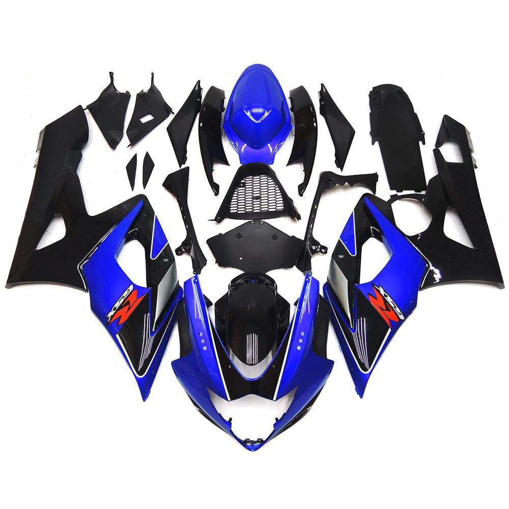 Fairings For Suzuki GSXR1000 GSXR-1000 K5 05 06 2005 2006 ABS Plastic Motorcycle Fairing Kit Bodywork Cowling Black Blue New(China (Mainland))