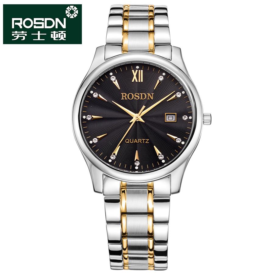 ROSDN 2016 Watches Women Luxury Brand Quartz Watch Men Full Steel Wristwatches Dive 50m Fashion couple Watches Relogio Masculino(China (Mainland))