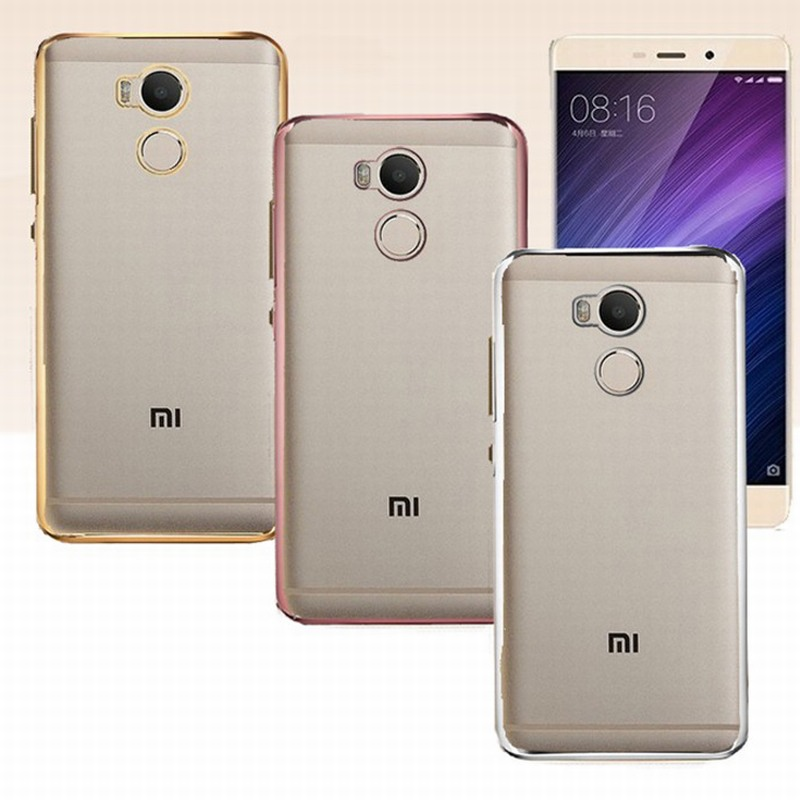 Xiaomi Redmi 4 Pro Prime Stardard Case Silicone Electroplating Plating Gold Protective Back Cover Mobile Phone Accessories