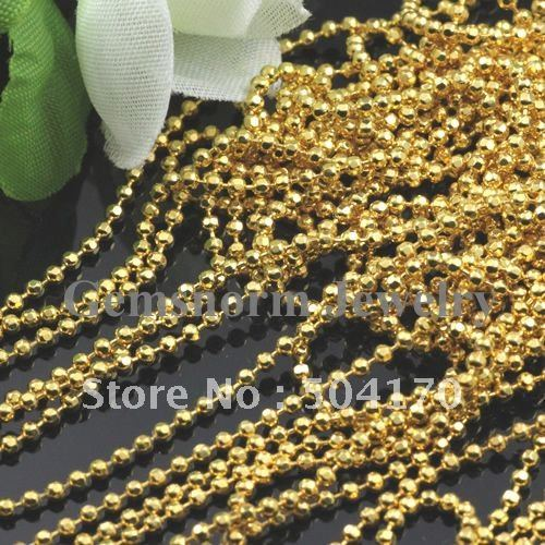1.5mm Hot-sale Very Lustrous Fringe Chains Golded Plated Beaded Chains 300feet/lot<br><br>Aliexpress