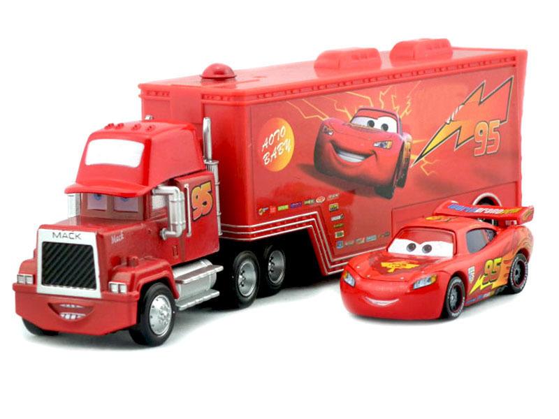 Hot Sell Pixar Cars 2 Mack Truck hauler small car red car Diecast brinquedo carro de brinquedo de metal no programa(China (Mainland))