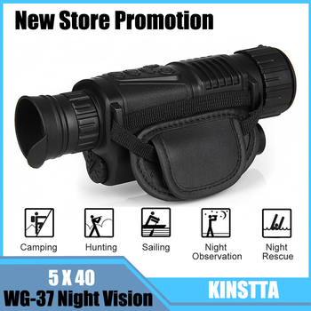 KINSTTA Infrared Digital Night Vision Monocular Scope 5x40 For 200Meter,Zoom 5X , IR, 5MP Digital Camera Video In CCD For CSgame
