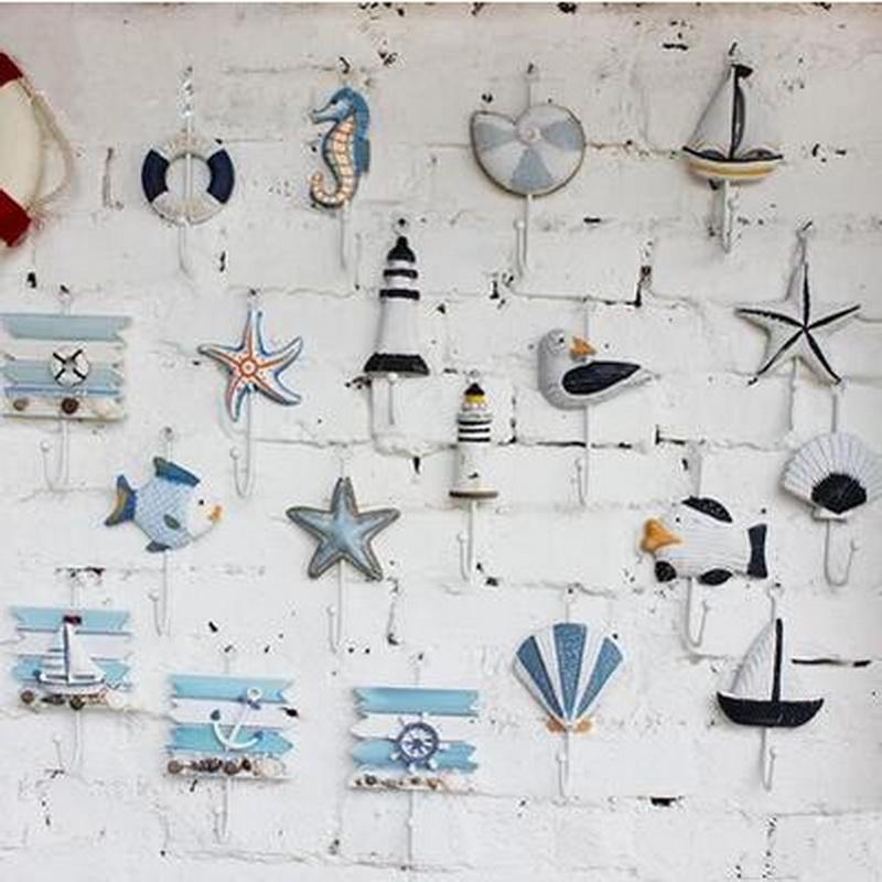 2016 New Fashion Iron Sea Animal Hooks Decorative Hanging Sundries Key Hook Wall Decoration Enj(China (Mainland))