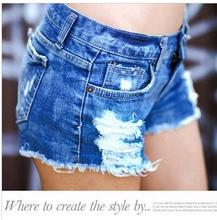 new spring 2017 Formal shorts women denim female shorts solid blue short Jeans hole Style women Sexy summer Jeans Products Y853(China (Mainland))
