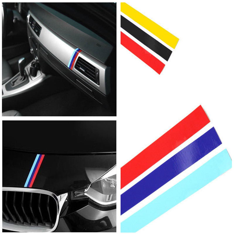 Гаджет  20x0.5cm M SPORT 3 COLOR Car styling Front Reflective STRIP DECAL VINYL KIDNEY GRILLE STICKER FOR BMW M3 E39 E46 E90 None Автомобили и Мотоциклы