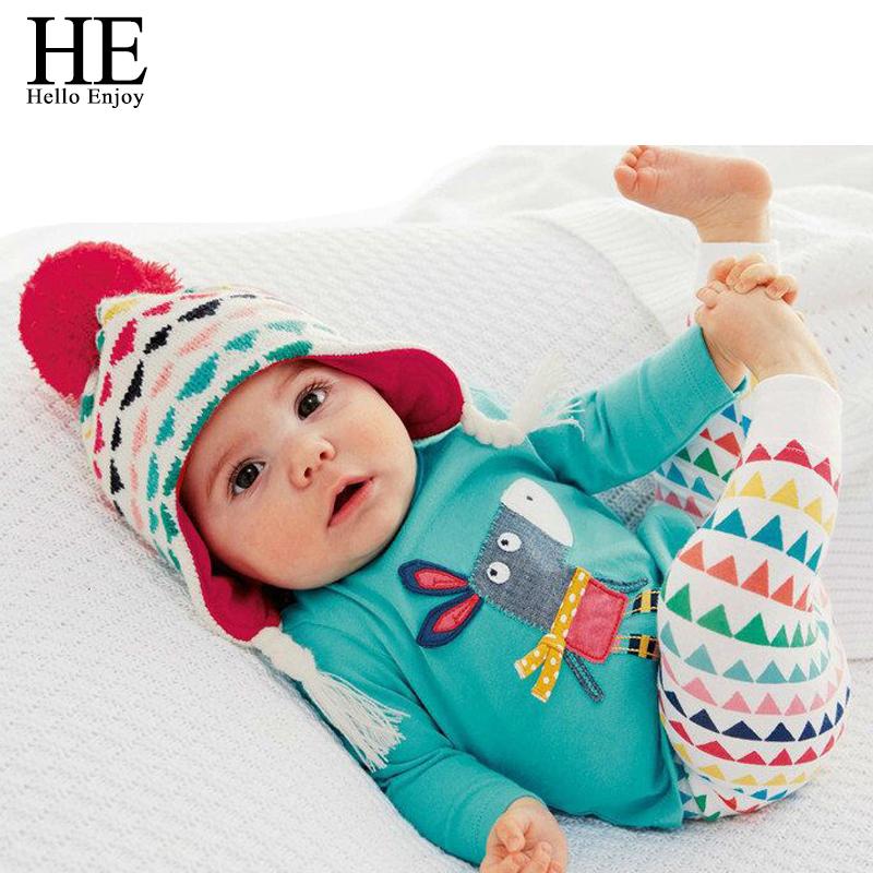 HE Hello Enjoy Baby clothing set unisex boy costume fashion 2016 winter 1st birthday outfits for girls infant clothing(China (Mainland))