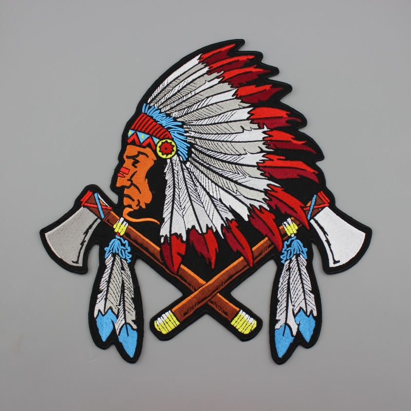 Quebec Canada Indian Motorcycle Riders Jacket Embroidered Custom Iron on Mc Patches on Clothes(China (Mainland))