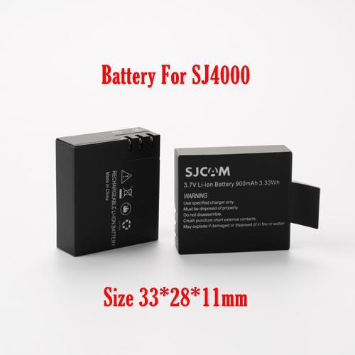 Original SJ4000 3 7V Li on 900mAh Backup Rechargable Battery For SJ4000 SJ5000 SJ6000 thick battery