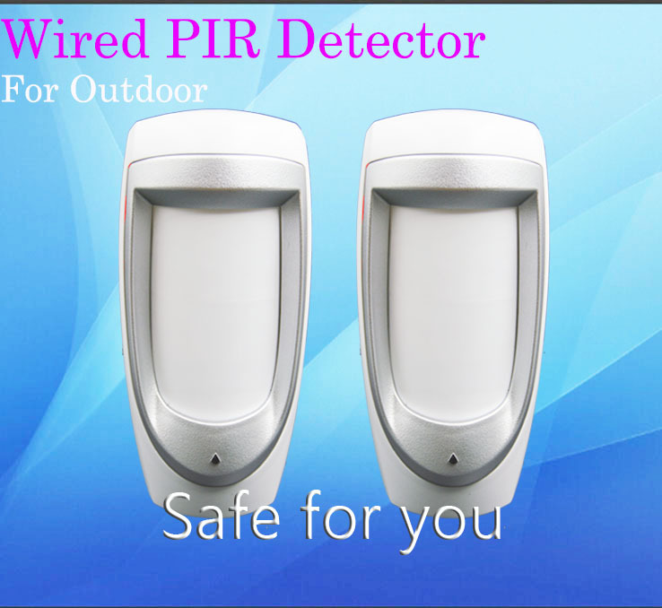 Free Shipping Outdoor PIR Motion Sensor Alarm For Home Security Alarm System Stable Performance Waterproof Lightning Protection(China (Mainland))