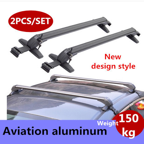 Quality!New Upgrade! 2pcs/set Hatchback and Sedan universal car roof rack bars MIN 75KGS bicycle rack with lock ON SALE.shipping(China (Mainland))
