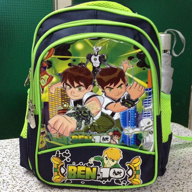 2015 Ben10 new vacuum bag Bookbags backpack children(China (Mainland))