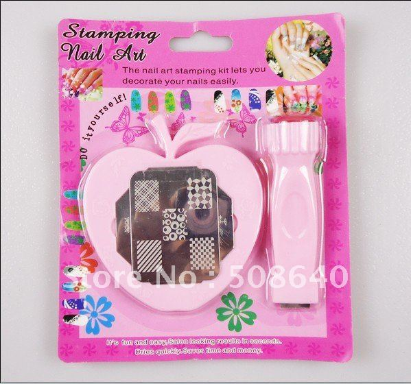 Freeshipping DIY Stamping Nail Art Kit For Nails Printer Tool With Image Plate Wholesales 114
