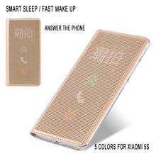 Slim Dot Bag Smart Auto Sleep Wake View Shell PC hard Original Flip Leather Cover Shockproof Case For xiaomi 5s mi5s m5s mi 5 S(China (Mainland))