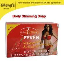 hot chili essence 3 days effective slimming soap 100g, skin wthienting, anti cellulite, full body weight loss slimming products