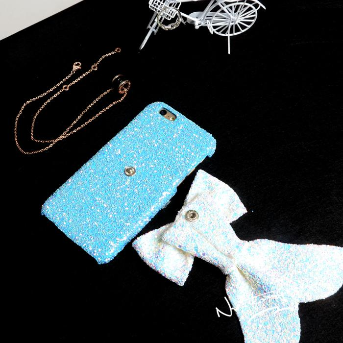New fashion Clitter powder Cute Mermaid plush Luxury Cell Phone Case Back Cover for iPhone 6 6Plus Coque Fundas Carcasa Capa
