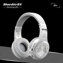 Bluedio H+  Bluetooth Stereo Wireless Headphone Built-in Mic Support SD Card FM Radio BT4.1Over-ear Headband Earphone Headset
