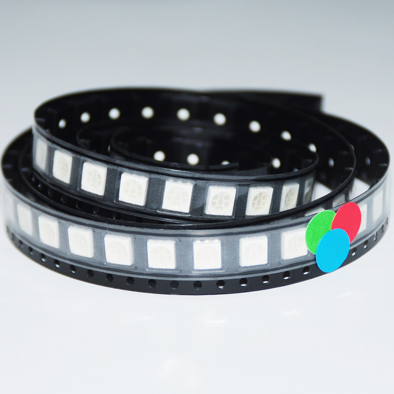 1000 SMD 5050 RGB Diodo LED Red/Green/Blue Light-emitting Diode 5050 SMD RGB LED Diode Beads(China (Mainland))
