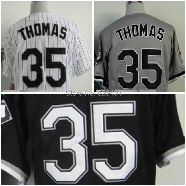 Cheap Frank Thomas Jersey 35# Frank Thomas Chicago White Sox Jerseys Baseball Free Shipping(China (Mainland))