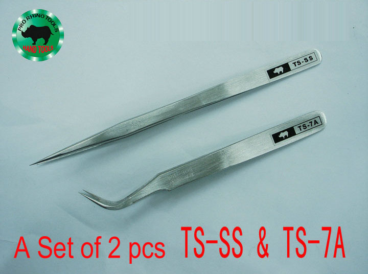 Big Sale 1 Set 2 pcs TS-SS &amp; TS-7A Forceps Precision Super Hard Sharp Tweezers For Repairing Watch Mobile or Processing Jewelry<br><br>Aliexpress