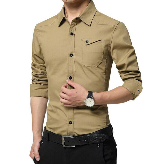 Buy men blouse long sleeve 2016 new for Best fitting men s dress shirts