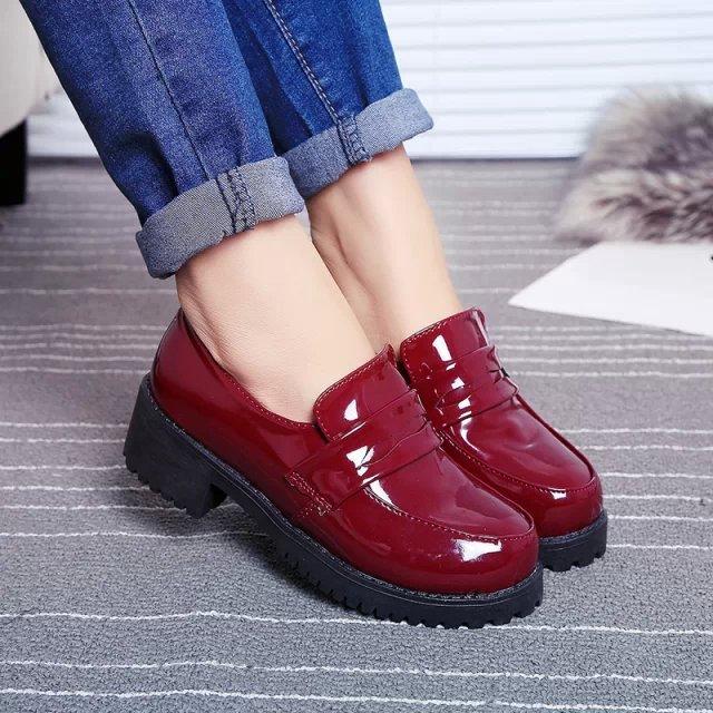 Cute Women's Lolita Maid Round Toe Shoes Japanese School Uniform Uwabaki Flat Mary Janes New Cosplay shoes 4.5cm Heels - Chinese National Store store