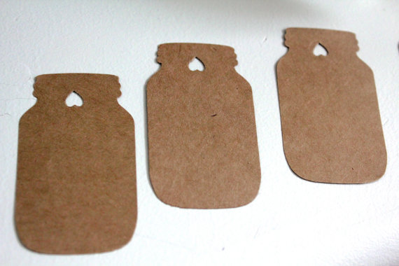 Wedding Favor Tags For Mason Jars : Mason jar favor Gift tags Rustic wedding wishing tree tag baby shower ...