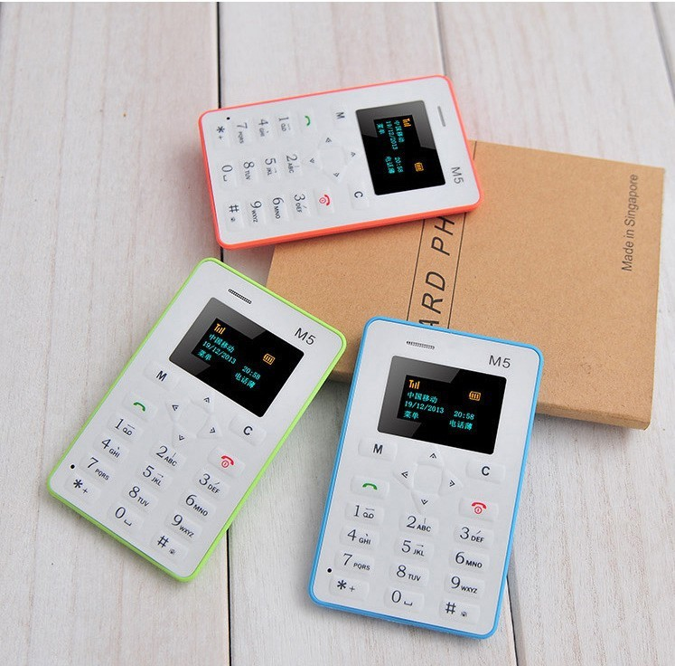 Ultra Thin Card Mobile Phone 4.8mm AIEK M5 AEKU M5 SOYES X6 Low Radiation mini pocket students personality children phone