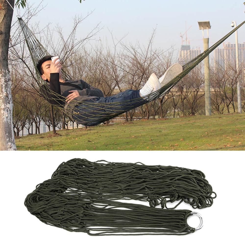 1Pc sleeping hammock hamaca hamac Portable Garden Outdoor Camping Travel furniture Mesh Hammock swing Sleeping Bed Nylon HangNet<br><br>Aliexpress