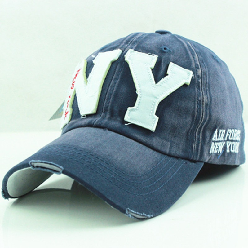 wholesale 2015 new autumn men's demin baseball cap casquette ny bone snapback cap hat for women(China (Mainland))