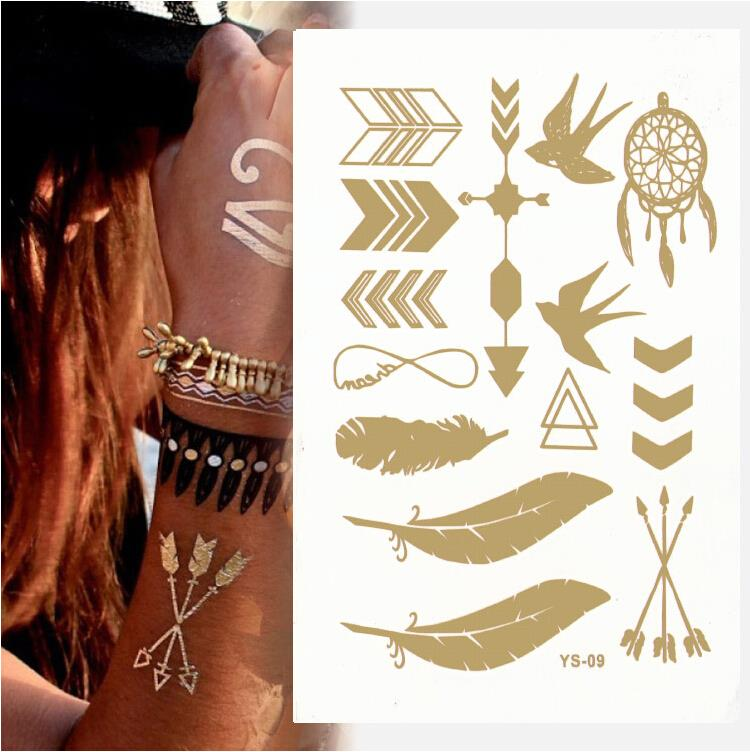 1pcs [800 designs] High Quality temporary golden tattos sticker Beauty & Health for only first 20 customers Promotion Cheap!!!!(China (Mainland))