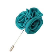 Yiting Pria Perhiasan Sutra Bunga Bros Rose Cluster Bunga Pria Lapel Pin untuk Cocok(China)
