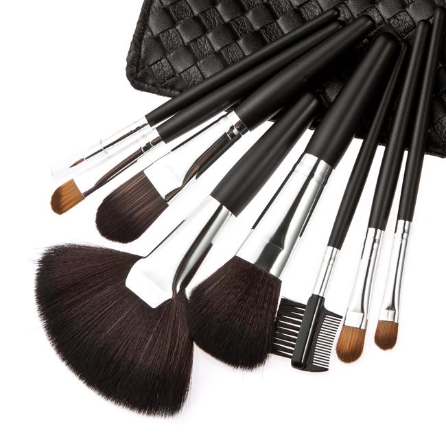 Professional Synthetic Hair 8Pcs MakeUp Brushes Set High Qualtiy Make Up Brushes Set Facial Cometics Tool BLUE/PINK/Black/Beige(China (Mainland))