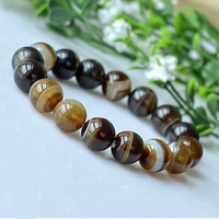 Yellow Agate Beads Bracelets Natural Stones Elastic Line Bracelet Men Jewelry Women Bracelet Fashion Wristband 0239