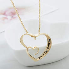Fashion vintage Engraved my Sister Necklace My Best Friend Friendship letter chain pendant Necklace Jewelry for