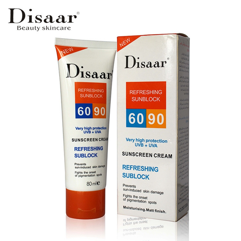 Moisturizing Fresh Cooling & Isolated Sunblock SPF 90 + + Waterproof Sunscreen Creams 80ml Prevents Sun-induced Skin Damage
