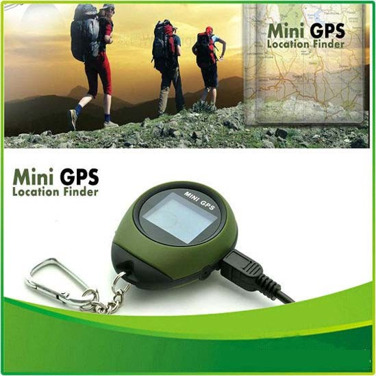 Handheld Mini GPS Navigation Mini Outdoor Travel Hiking Location Finder Tracker USB Rechargeable with Compass(China (Mainland))