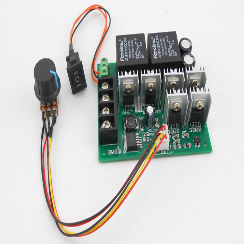 Forward Reverse DC Speed Motor Controller 10-50V 40A 60A For Brush Motor Reversing Control 0% - 100%(China (Mainland))