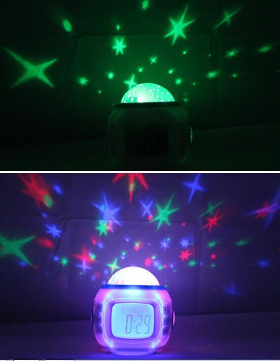 Sky Stars Projector Clock Alarm Clock Star Projector