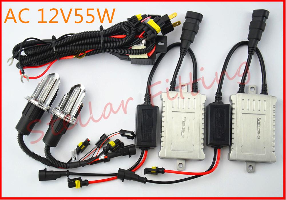AC12v 55w HID xenon kit bulb H4 Hi/Lo High and low light(China (Mainland))