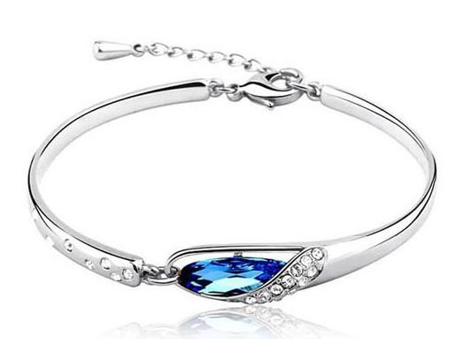 Wholesale Price Romantic Beautiful Glass Shape Crystal Bud Bracelet for Women Free Shipping ,Fashion Jewelry Nice Gift(China (Mainland))
