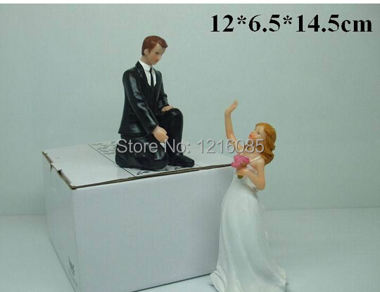 cheap wedding cake toppers funny couple bride bridegroom figurine cake topper decorations. Black Bedroom Furniture Sets. Home Design Ideas