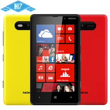 Original Nokia Lumia 820 GPS 4.3 Inch Touch Screen 8MP Camera 8GB Storage Refurbished Smartphone12 Months Warranty Free Shipping