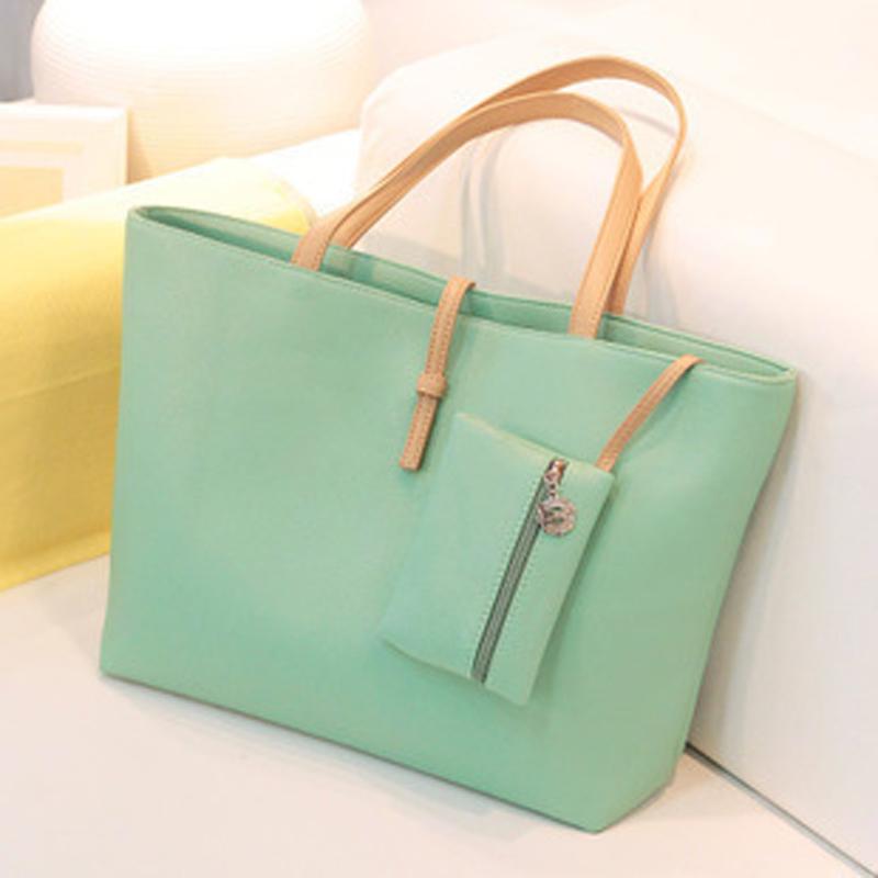 2016 new high quality women handbags leather outlet sling bag fashion ladies big bags casual shoulder zipper tote bolsa(China (Mainland))
